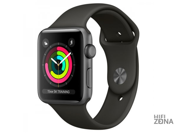 Умные часы Apple Watch S3 Sport 42mm Space Gray (Серый Космос) Al/Gray Band MTF32