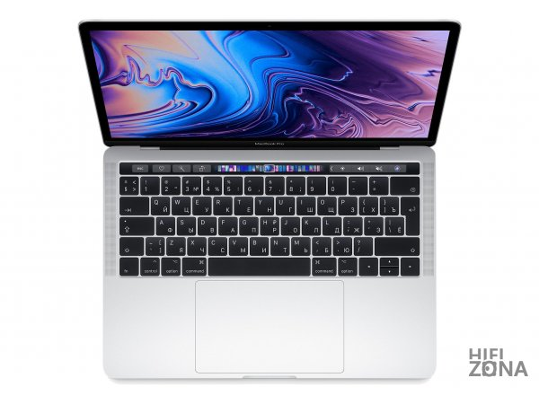 "Ноутбук Apple MacBook Pro 13"" Core i5 2,3 ГГц, 8 ГБ, 512 ГБ SSD, Iris Plus 655, Touch Bar серебристый MR9V2"