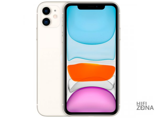 Смартфон Apple iPhone 11 128GB White Белый (MWM22RU/A)